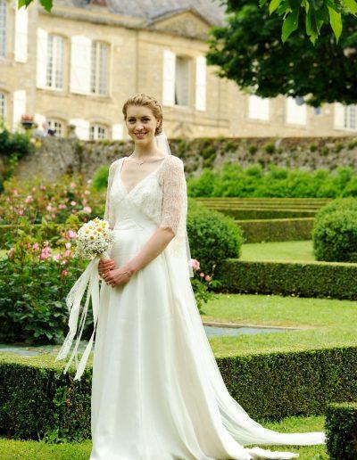 hand made wedding dress