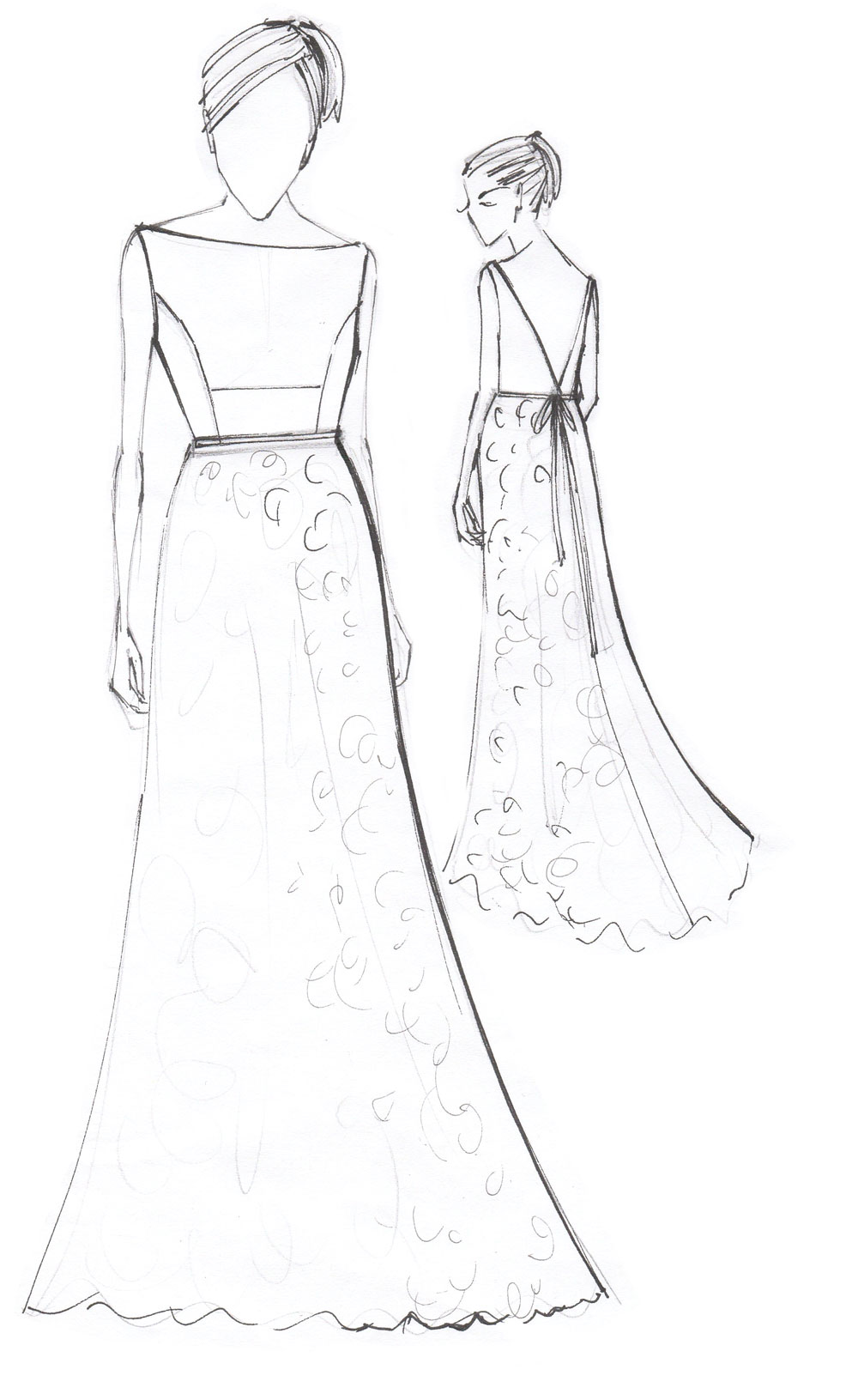 rachel lamb wedding dress designer sketches